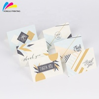 new design full colors printing thank you card set