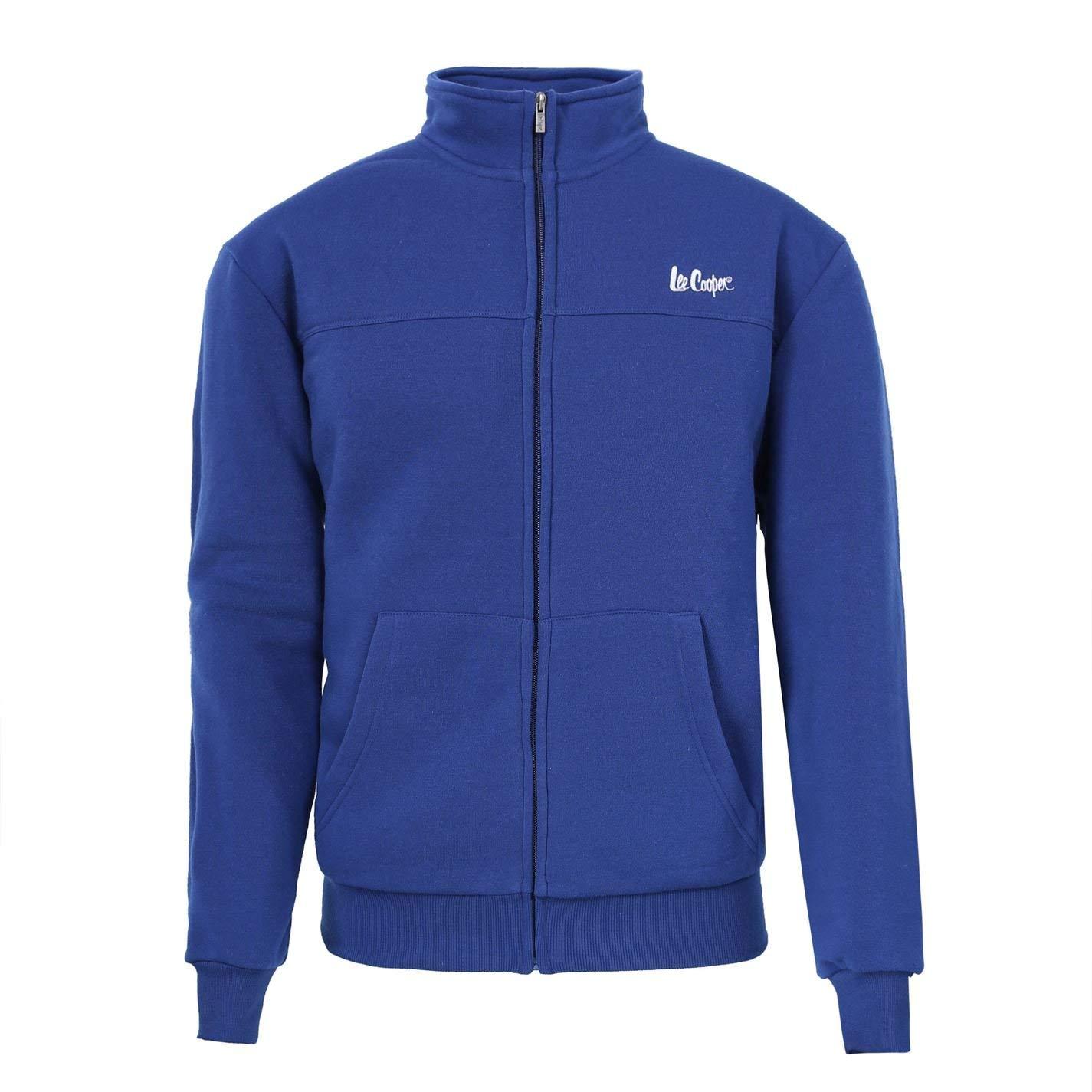 Lee Cooper Mens Zip Fleece Jacket Top Coat Long Sleeve