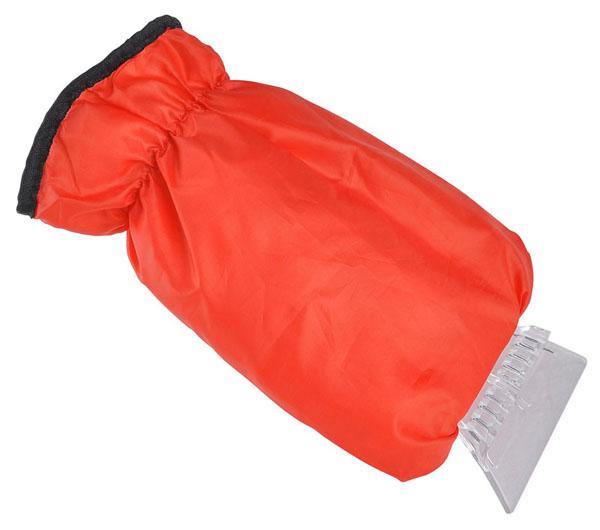 Heat ice scraper with glove with orange colour