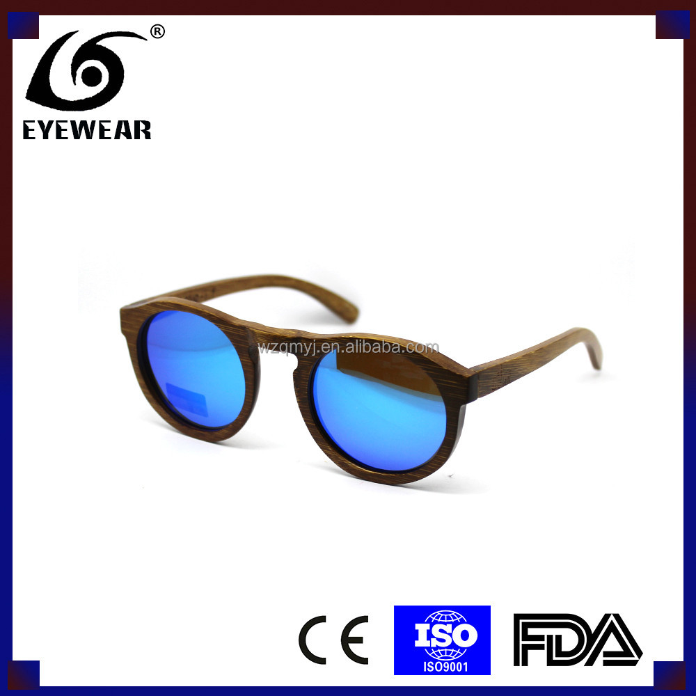 Wooden sunglasses ,newest design round wood sunglases,OEM is welcome