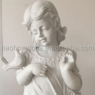 High quality Haobo China Direct Hot sale , cheap price,outdoor decoration sculpture, Life-Size Marble merry baby angels models