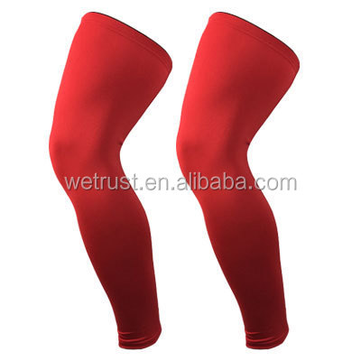 f5f90cf715 Leg Compression Sleeve Basketball Support Knee Protector Guard Football  Lycra Sports Leg Sleeve