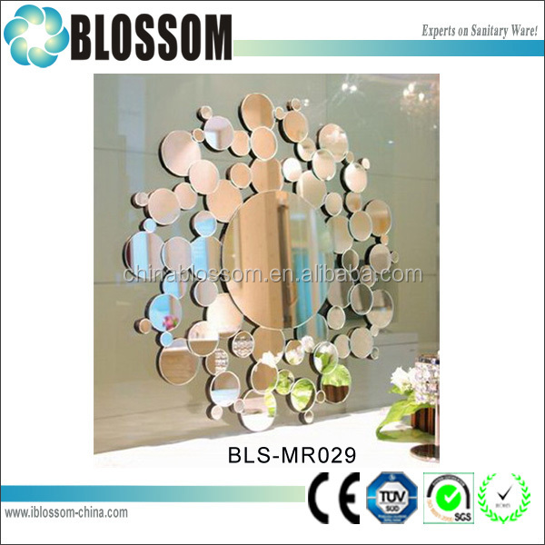 diy decorative 4mm silver mirror murano glass wall art
