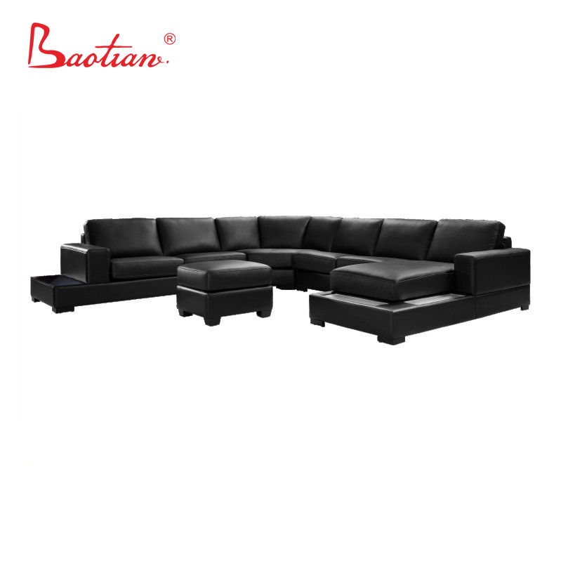 Amazing Living Room Furniture U Shape Corner Sofa With Led Light Buy Sectional Sofa Leather Corner Sofa With Movable Headrest Home Furniture Product On Home Remodeling Inspirations Cosmcuboardxyz