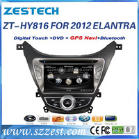 Zestech double din car stereo for Hyundai elantra 2012 gps bluetooth mp3 mp4