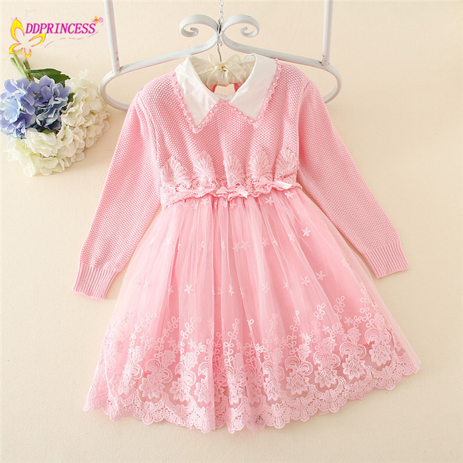 c34b1064a922 Autumn 2015 Hot Sale!!! New Children Frock Clothing Sweater Dress ...