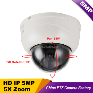 "Hot Sale CCTV 2.5"" MINI 5MP Dome PTZ Camera 5 Megapixels IP Camera Pan Tilt 5X zoom 2.7~13.5mm lens IR 40M ONVIF P2P Mobile View"