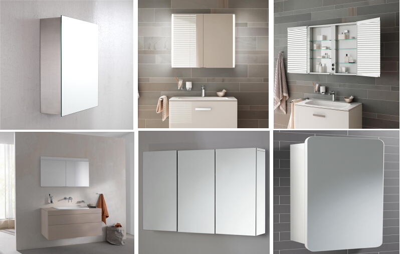 Wall Mounted Lighted Backlight Led Bath Mirror Cabinet