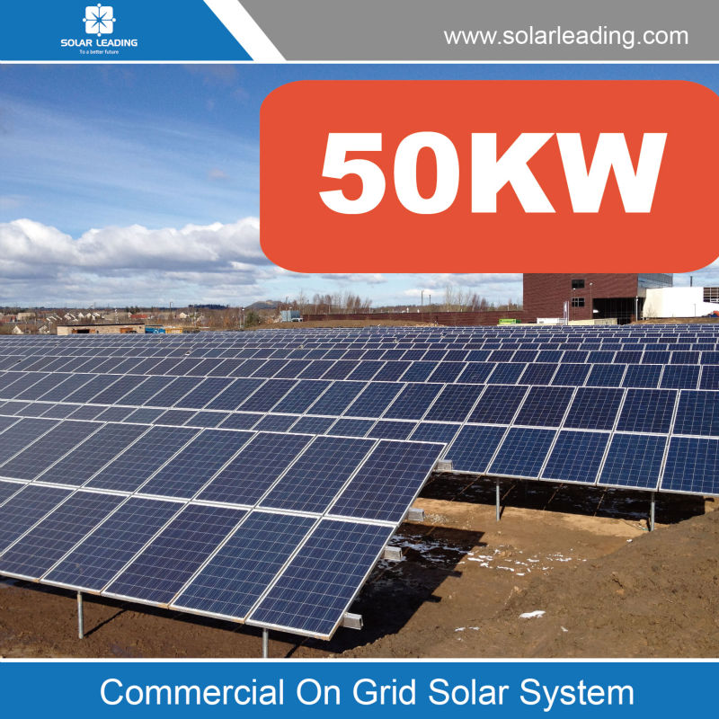 Turnkey service 50kw solar panel system grid tied systems include pv panel also with pv grid tie solar inverter price