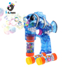 Kids toy led shooters transparent flash bubble gun with music