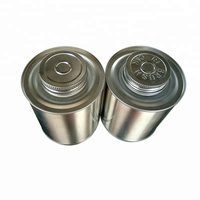 High quality wholesale 16oz PVC adhesive metal screw top tin can with brush