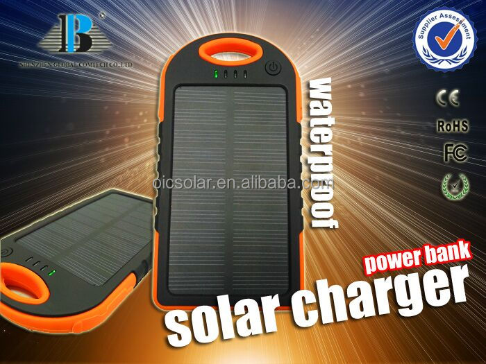 New arrival wholesale factory price solar charger outdoor waterproof/ shokproof sun power fast charging for mobile