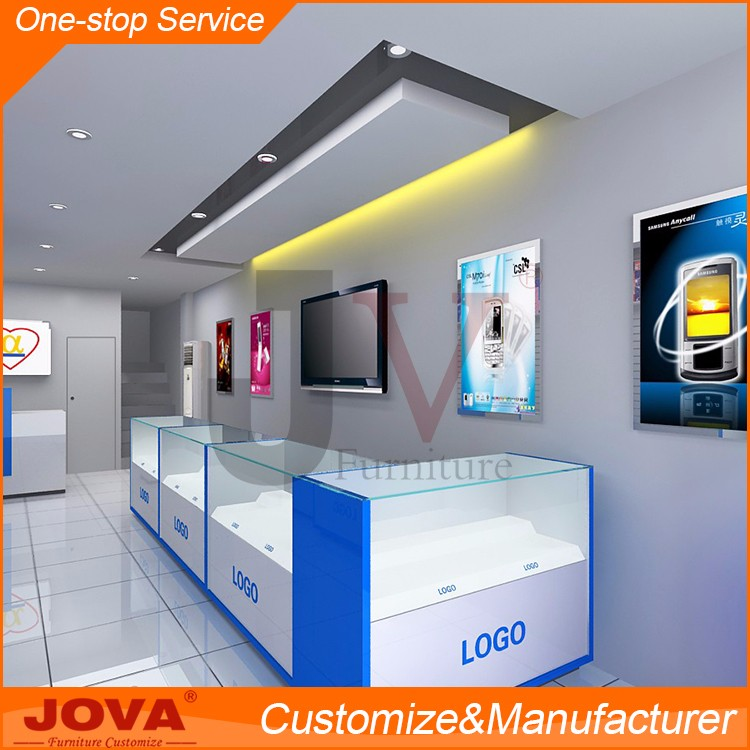 Samsung Mobile Shop Decoration Design With Cell Phone Repair Workstation