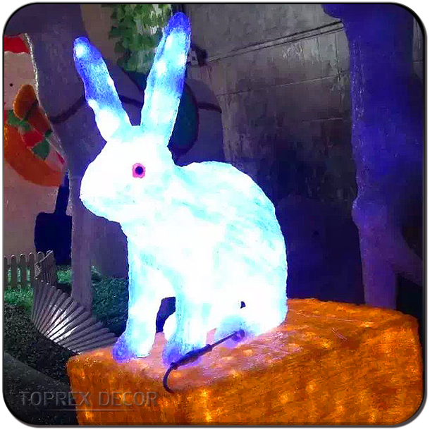 Hot sale new products led big bunny for easter decor