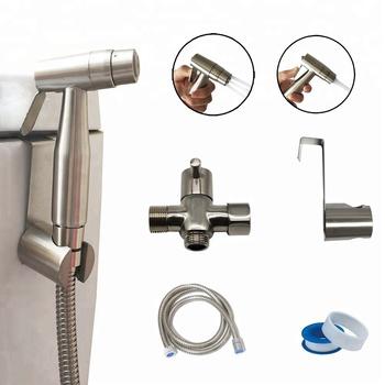 Two Function Toilet Water Bidet Spray Kit Hand Held Bidet Shower