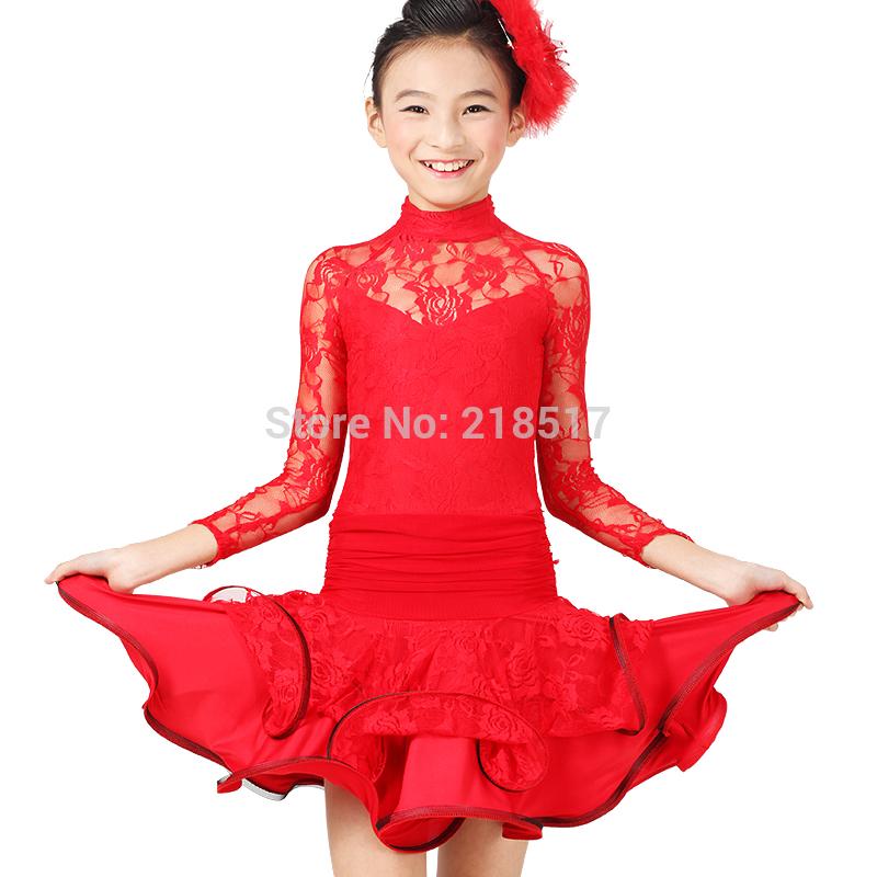 S-XXL Little Girl Latin dance dancing dress clothes lace . bd2c4059f