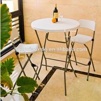 cheap modern 2.6ft 80cm HDPE bar cocktail table foldable wholesale