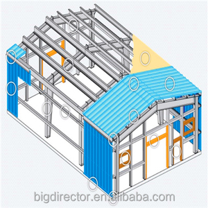 Light Steel Metal Roofing Framing Shed For Poultry House