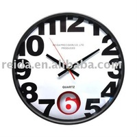 Plastic art models wall clock , new design plastic 3D wall clock for decor