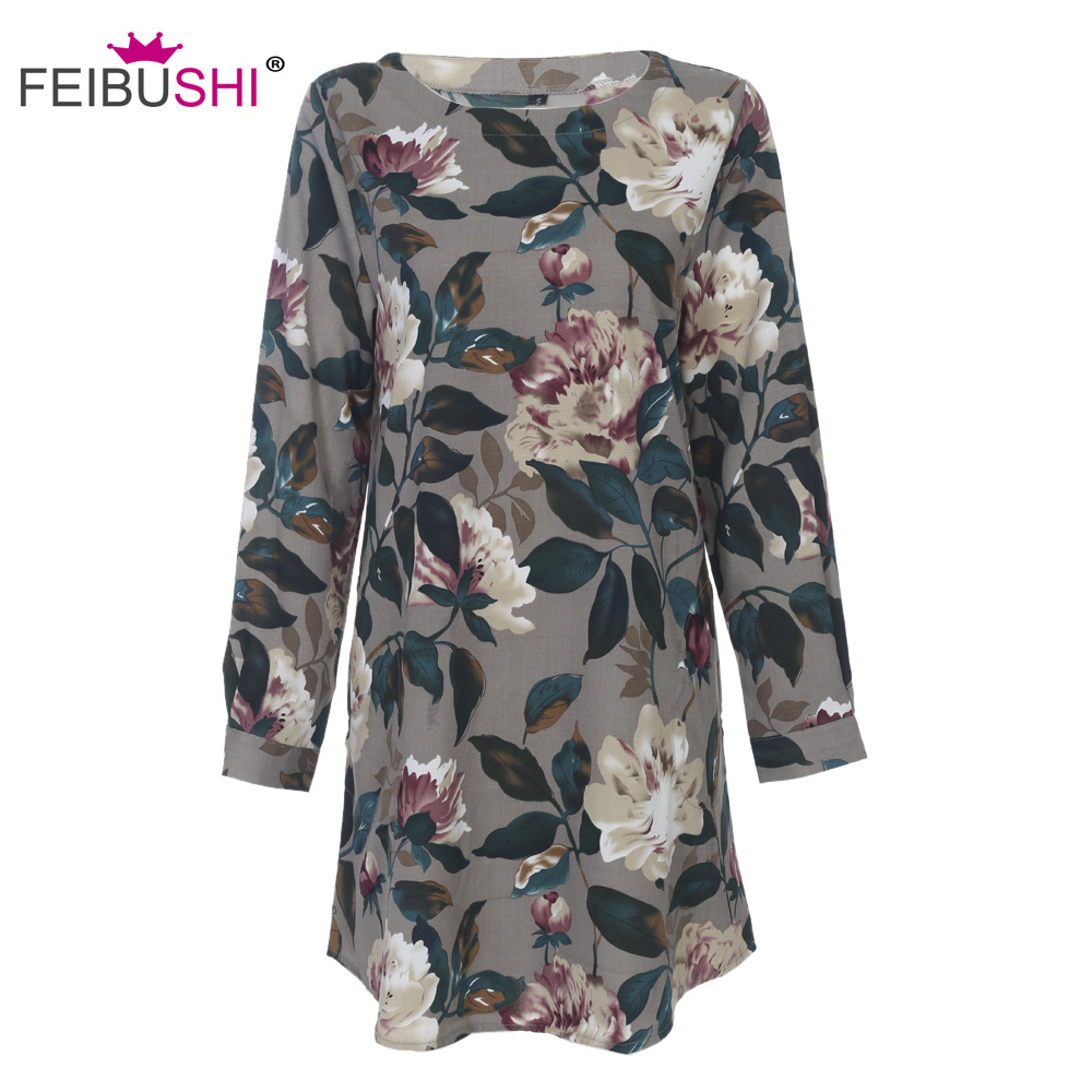 5f8bf5275ac ... Print Flower Floral tops Long Sleeve Shirt Blouse Dress White Plus Size.  04 05 20170427165502 97046 20170427165502 20137 20170427165502 10441