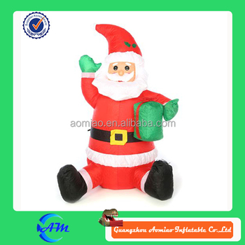 Inflatable Outdoor Sitting Santa For Sale Giant Inflatable Santa Claus For  Decorations