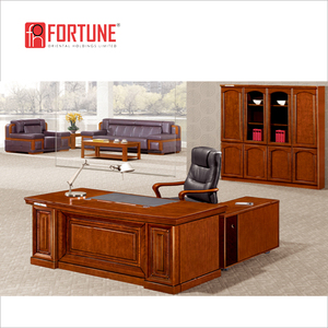 l Shape Desk 1800 Long Office Wood Table and Chair to USA (FOH-13020B)