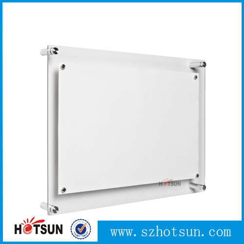 A3 A4 A5 Wall Mounted Clear Plexiglass Photo Frame Plexiglass ...