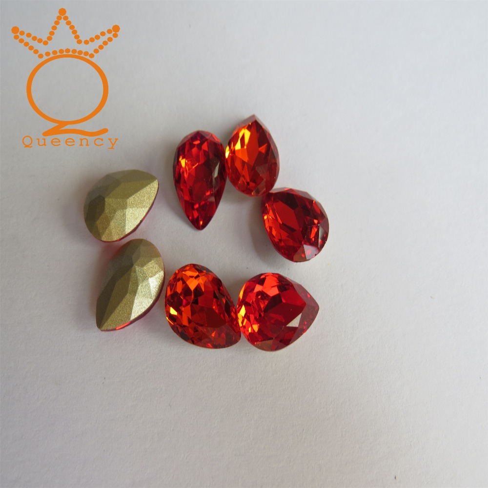 Eco-friendly Glitter Tear Indian Red Stone
