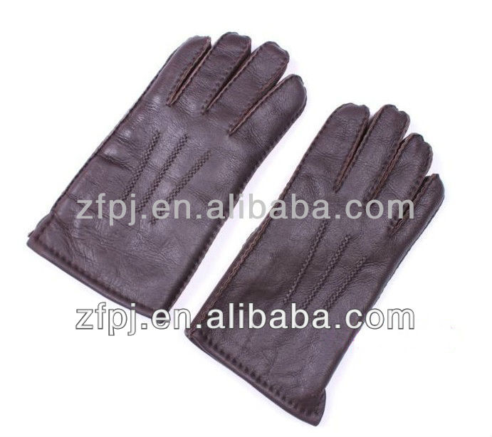 Classic and comfortable Gentlemen wearing deerskin gloves