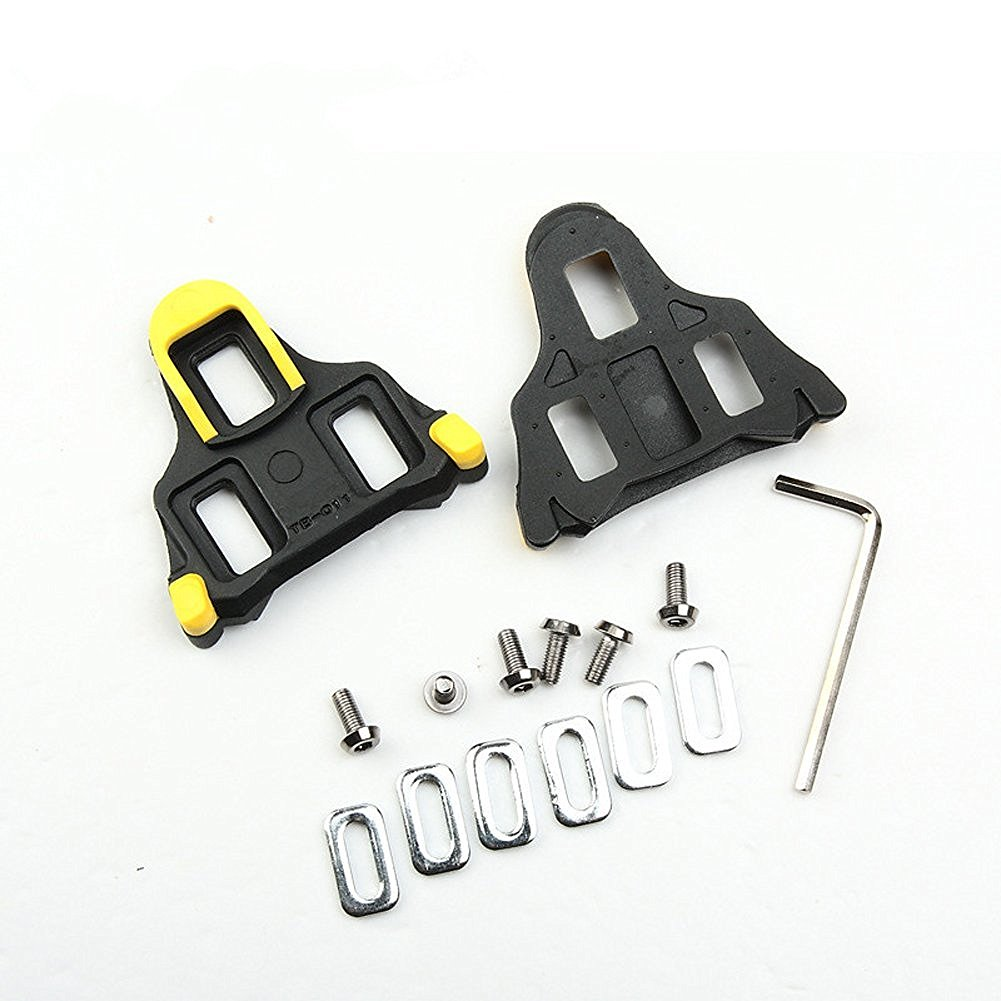 West Biking Road Cleats Set Cycling Pedals Cleat for Road Racing For Shimano SM-SH11 SPD-SL