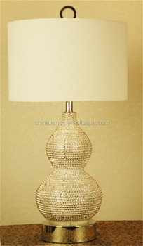 Gourdshaped Lampstandard Home Goods Table Lamp With White Cylinder ...