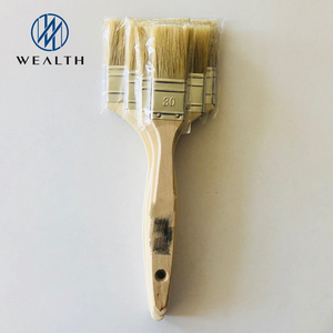 Pure bristle paint brush with wooden handle
