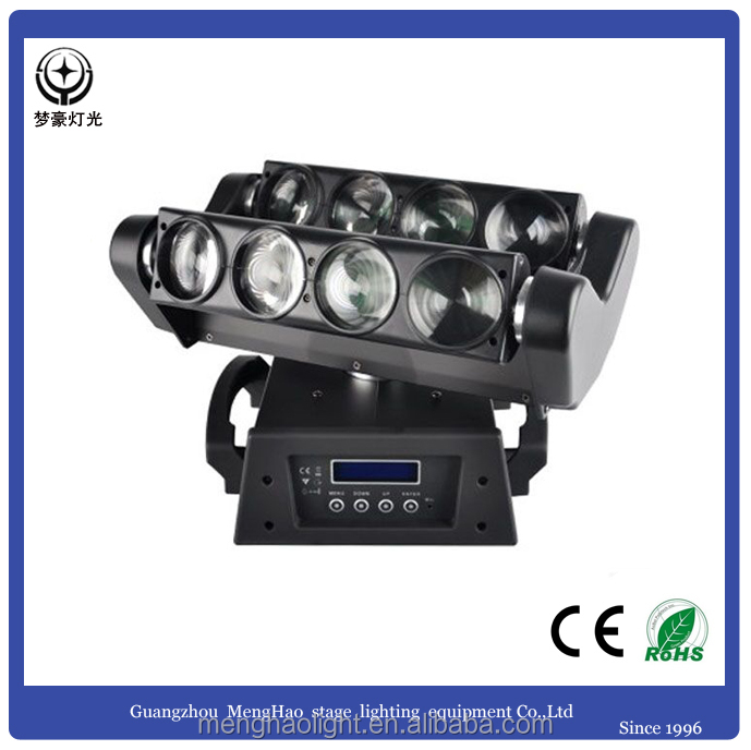 Cheap 8*10w RGBW 4in1 led spider beam moving head light