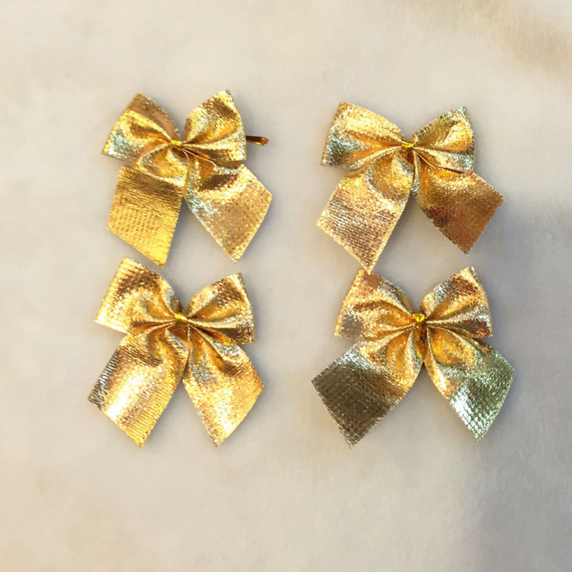 Amazing 12pcs/pack 5cm Gold Bows Christmas Tree Ornament ...