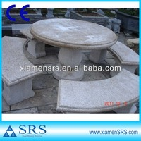 G682 outdoor stone tables and benches