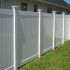 6ft H.x8ft W.White Plastic used vinyl fence for sale