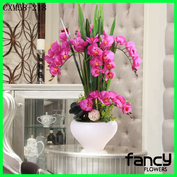 For Hotel Home Decorfashionable Fake Orchid Arrangement Beautiful