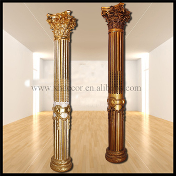 Frp Decoration Roman Column Pillar PU Home Decor Concreting