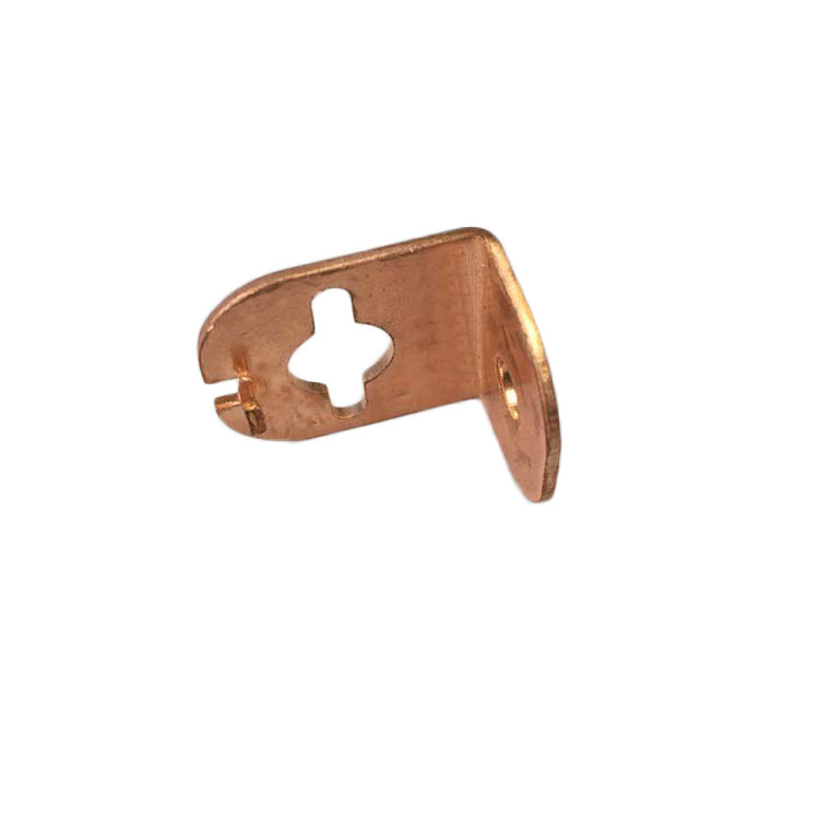 Custom Sheet Metal Fabrication Part, L Shape Copper Angle Corner Bracket For Sale