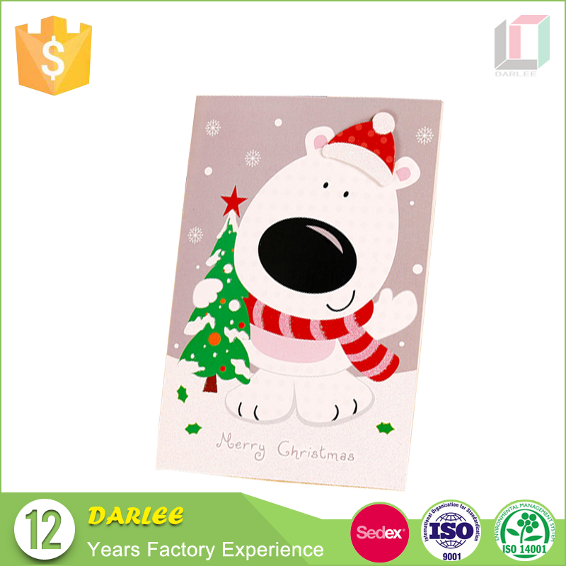 wholesale animated novelty christmas greeting cards