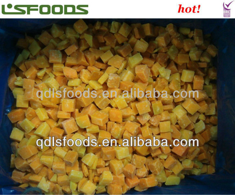 IQF pumpkin cubes(2*2cm)good price