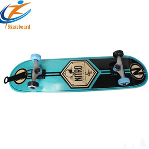 High quality Canadian maple customized Color maple wood longboard skateboard
