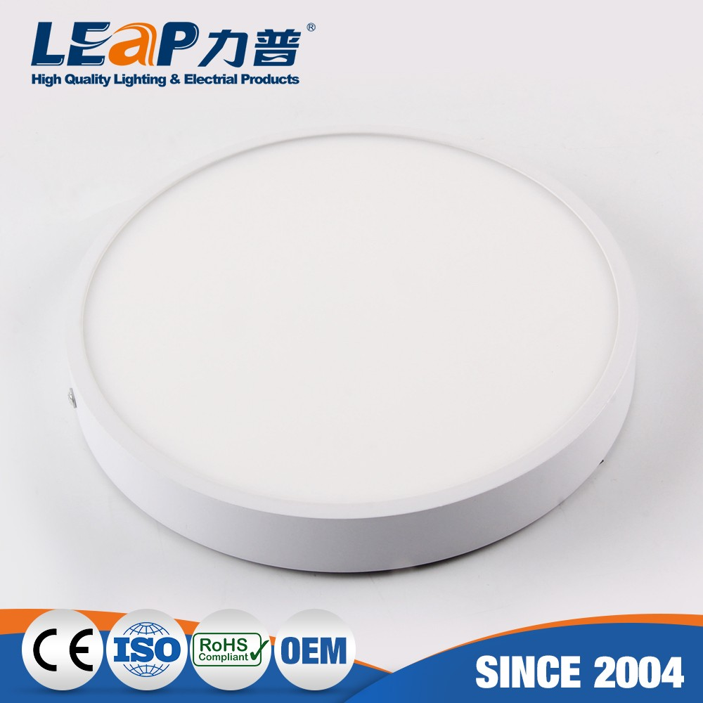 6w ultra slim led panel light with BIS CE SASO approved round led surface panel light