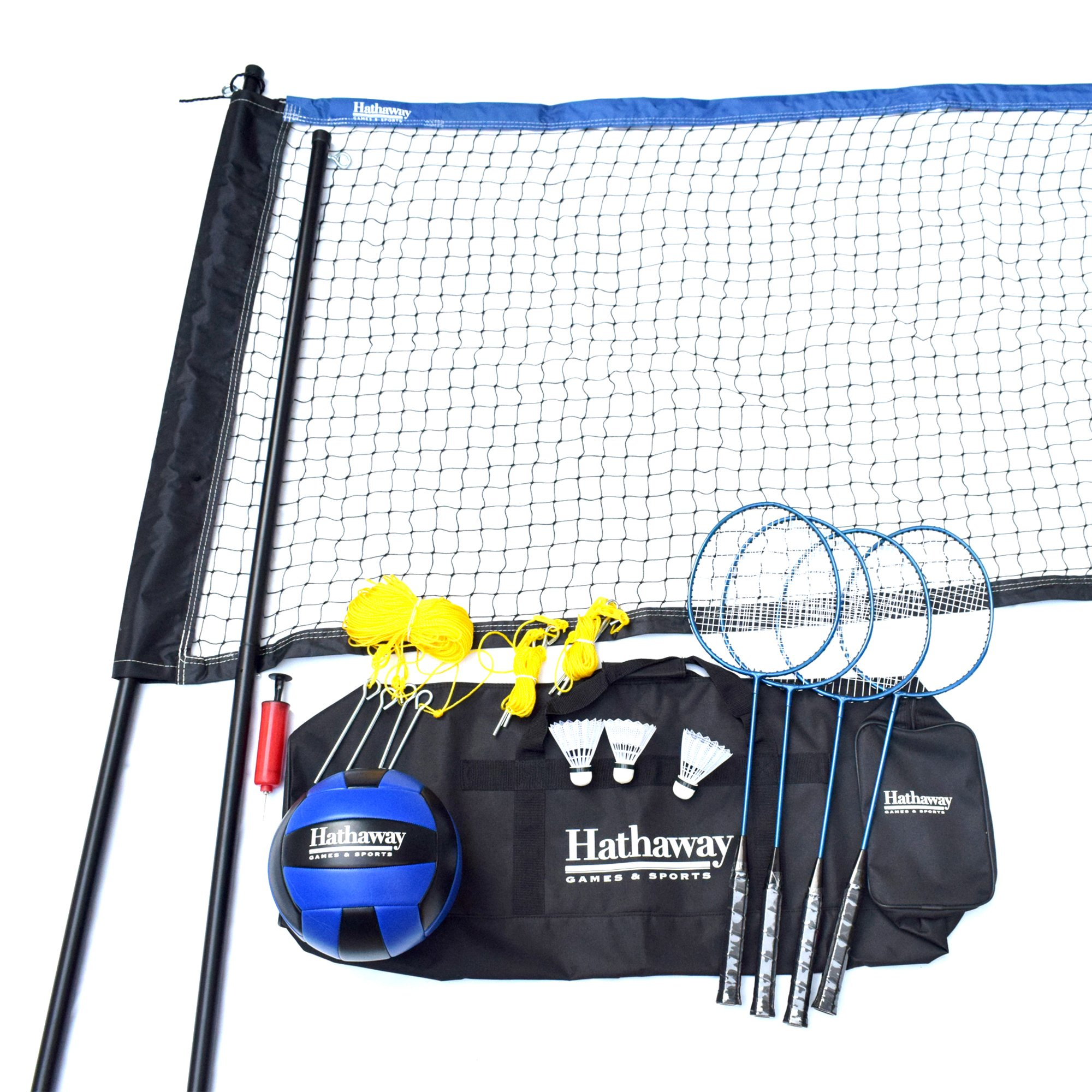 Hathaway Volleyball/Badminton Complete Combo Set