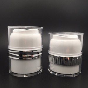 30g luxury airless pump cosmetics jar and bottle for lotion cream