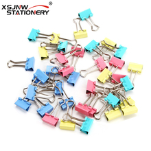 Factory Supply 19mm 색 <span class=keywords><strong>클립</strong></span>하지 Metal Stainless Steel 종이 <span class=keywords><strong>바인더</strong></span> Clips 40 개/몫