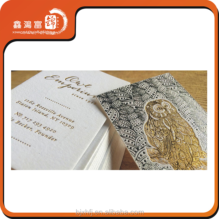 List Manufacturers of Business Cards Foiled Embossed Paper, Buy ...
