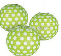 Durable service hot sell mix round hanging paper globe lanterns