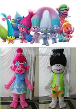 Trolls Mascot Costume Halloween Funny Costume Mascot China Factory