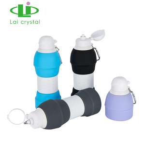 Wholesale Customized Good Quality Silicone Water Bottle Foldable